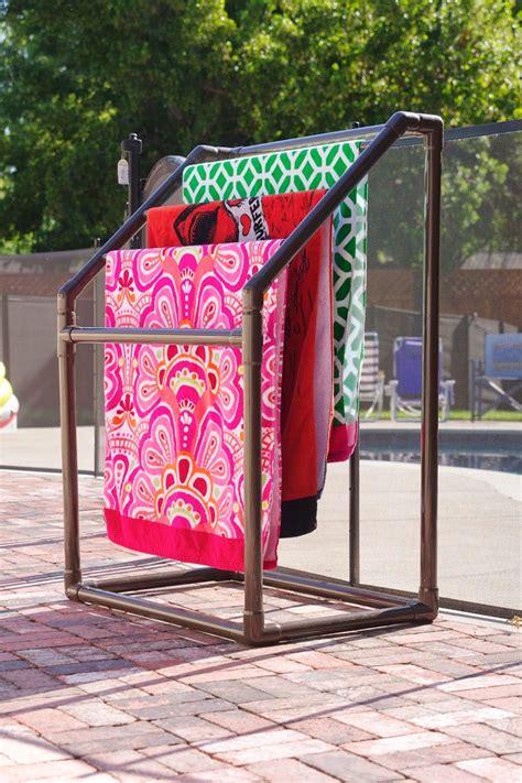outdoor pool towel storage the 25 best pvc towel drying rack ideas on pinterest