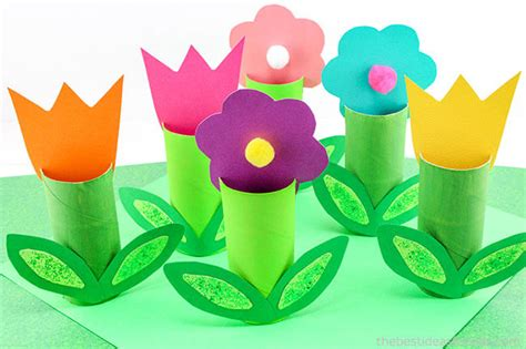 Toilet Paper Roll Flowers Craft - crafts activities archives the best ideas for
