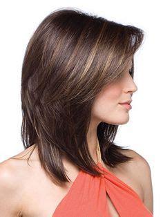 shoulder sweep haircuts women medium length layers with side sweep bangs medium length