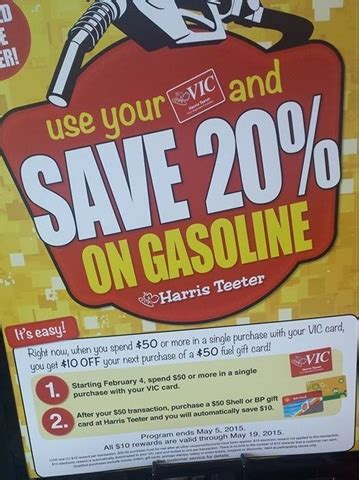 Harris Teeter Gift Card - harris teeter gas card promo select stores only save on groceries and gas the