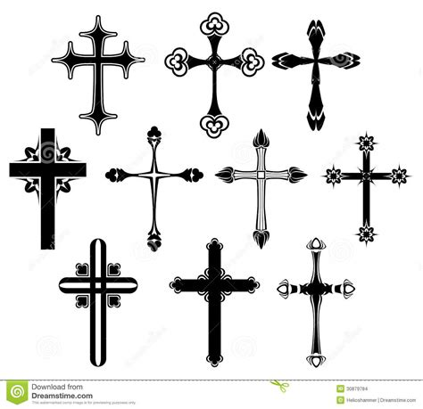 cross symbol set stock images image 30879784