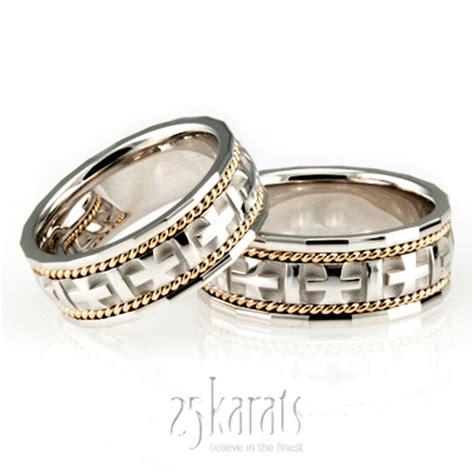 Christian Wedding Rings by Wedding Band Sets His And Hers Wedding Bands Matching