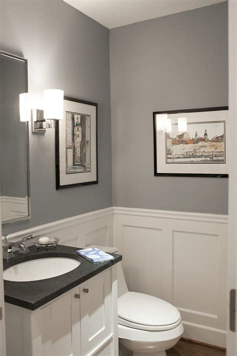powder room ideas 2016 dark wood molding