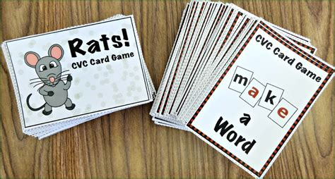 printable word card games response to intervention short vowels cvc activity pack
