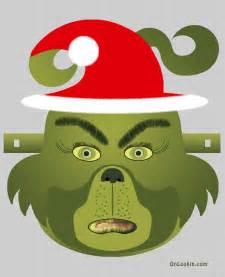 Grinch santa face mask cut out a4 free wallpaper