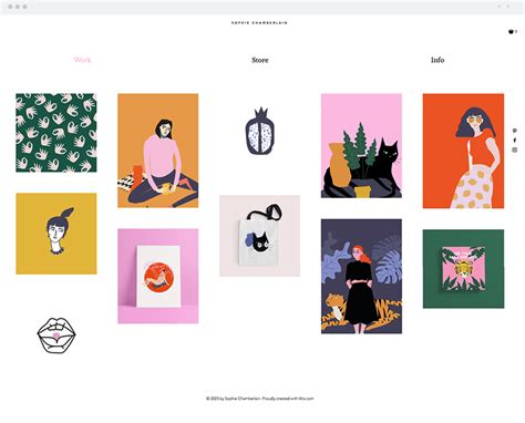 12 Stunning Artist Website Templates For Any Creative Industry Illustrator Website Template
