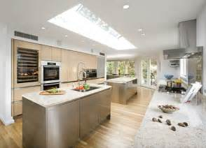 large kitchen designs beautiful design of big kitchen in natural colors digsdigs