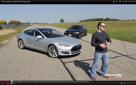 Tesla Vs M5 by Is De Tesla Model S Sneller Dan De Bmw M5 Autofans