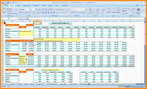 financial planning spreadsheet introduction letter