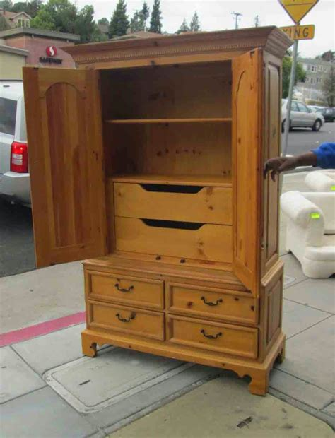 thomasville armoire uhuru furniture collectibles sold knotty pine
