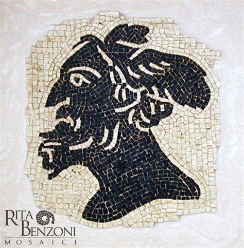 console romano profilo console romano mosaico marmo bianco asiago nero