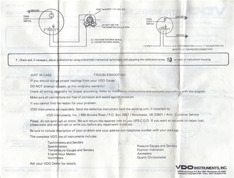 vdo tachometer wiring diagram fascinating mechanical tachometer wiring ideas best