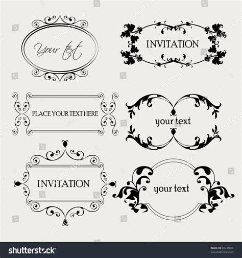 Decorative Text by Set Decorative Frame Ornaments Text Vector Stock Vector