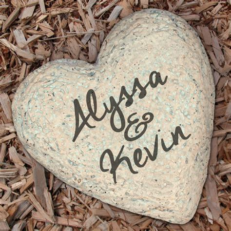 Engraved Garden Rocks Engraved Couples Garden Garden Decor Couples