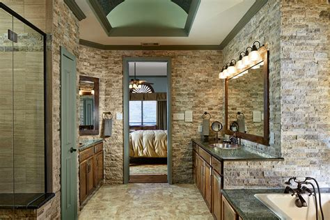 transitional rustic bachelor pad in double oak tx