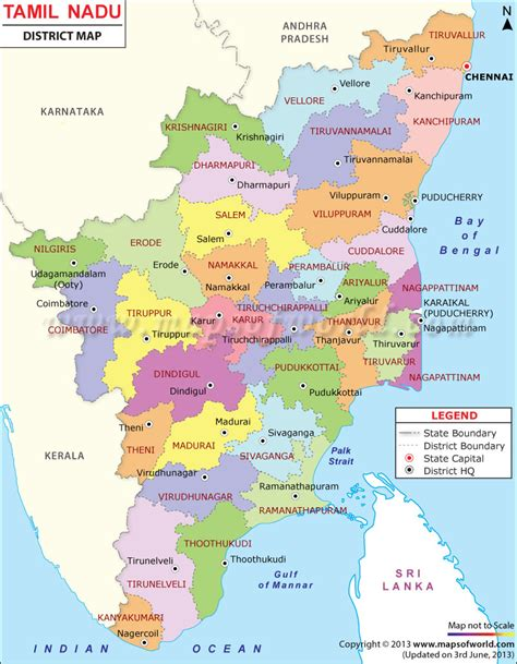 Tamilnadu Outline Map India by Tamilnadu District Map Places To Visit Sri Lanka