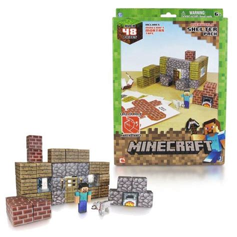 Minecraft Papercraft Target - minecraft papercraft shelter set 48 pack jazwares