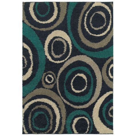 and teal rugs home decorators collection orbit teal 7 ft 10 in x 10 ft area rug 443772 the home depot