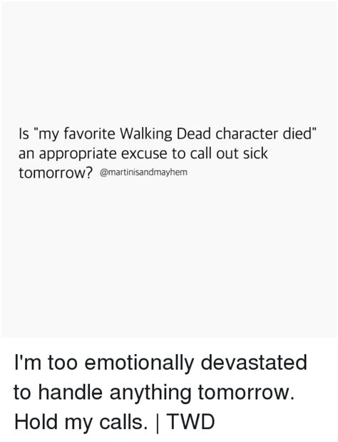 is my favorite walking dead character died an