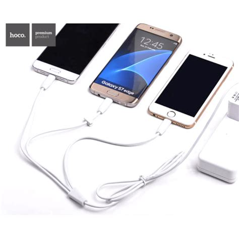 Hoco X1 Lightning Charging Cable 3m Iphone White hoco x1 3 in 1 lightning micro usb and usb type c charging