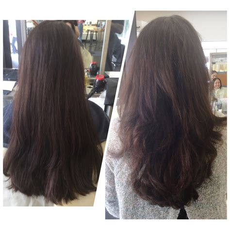 hair rebonding oakland ca before and after adding layers to a haircut for bounce and