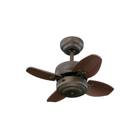 Monte Carlo Mini 20 20 In Roman Bronze Ceiling Fan Mini Ceiling Fan