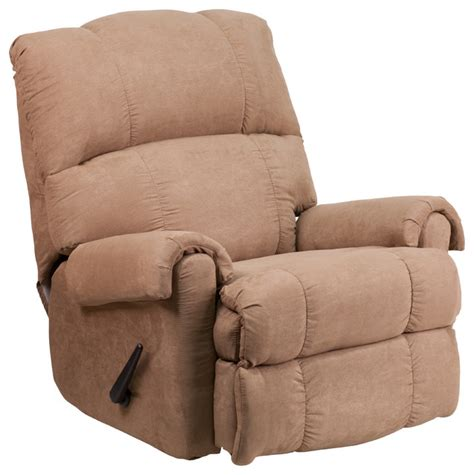 chenille recliner chair tahoe chenille rock n recliner chair chocolate taupe