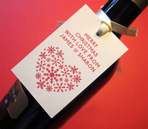 personalised christmas tags by lovat press