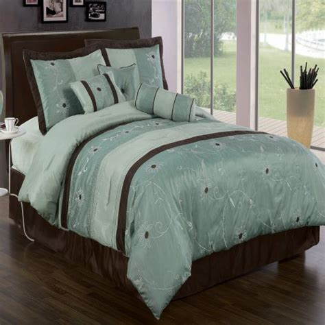 brown and blue comforter sets online