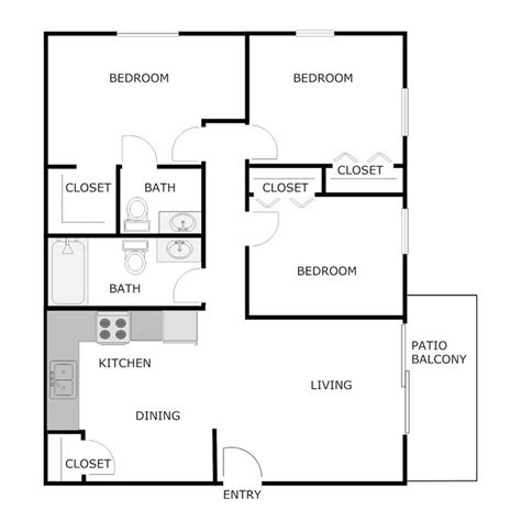 1 bedroom 1 5 bath apartment 3 bedroom 1 5 bath apartment woodbury village apartments
