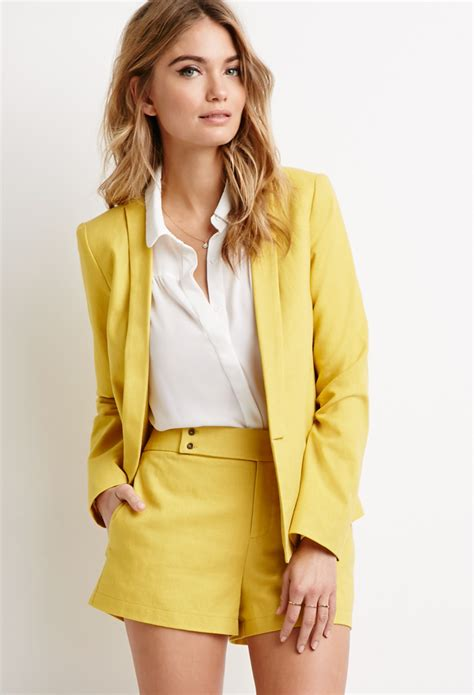 Modern Set 3in1 Dress Jaket Pashmina lyst forever 21 contemporary linen blend shawl collar blazer in yellow