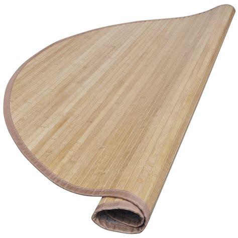 tappeto in tappeto rotondo in bamboo 150 cm marrone vidaxl it