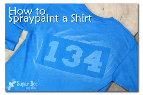 spray paint on t shirts spraypaint a shirt cub scout tshirts sugar bee crafts
