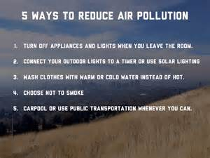 Ways To Avoid Air Quality Air Pollution By Alissia Brown