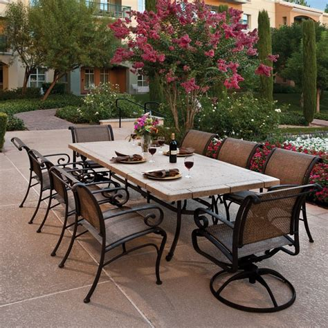 Outside Patio Dining Sets Modern Living Room Furniture Winston Pont Royale Outdoor Dining Set