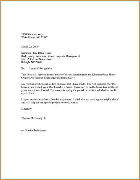 3 sle resignation letter with reason effective