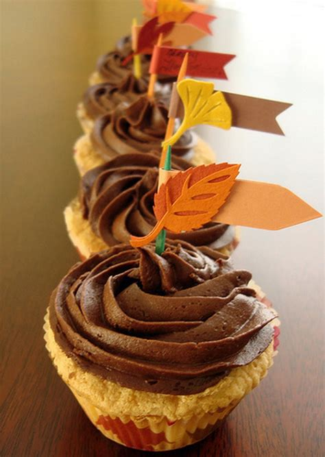 fall cupcake decorating ideas thanksgiving cupcake ideas for holidays