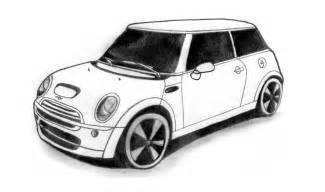 Mini Cooper Drawing How To Draw A Mini Cooper Car