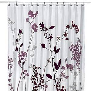 Shower Curtains With Purple Reflections Purple Fabric Shower Curtain Bed Bath Beyond