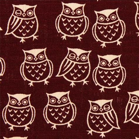 japanese owl pattern wine red structured owl fabric by cosmo from japan owl