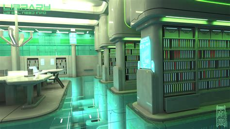 Library Interior Design Concept by Library By Cementiet On Deviantart Futuristic Interior