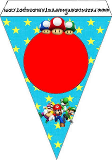 printable mario banner super mario bros free party printables images and