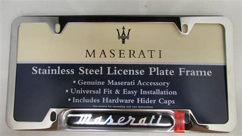 Maserati License Plate Frame by Maserati Stainless Steel License Plate Frame