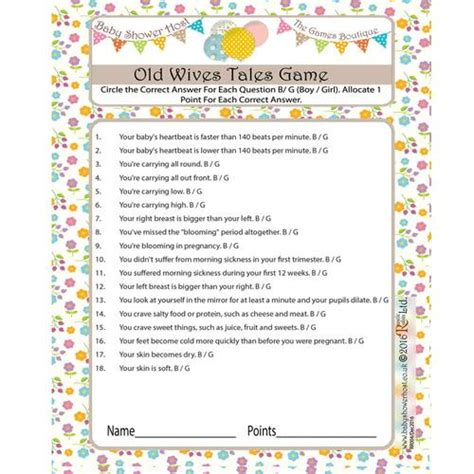 Tales Trivia Baby Shower by Baby Shower Quiz Tales 8 Baby Shower Host