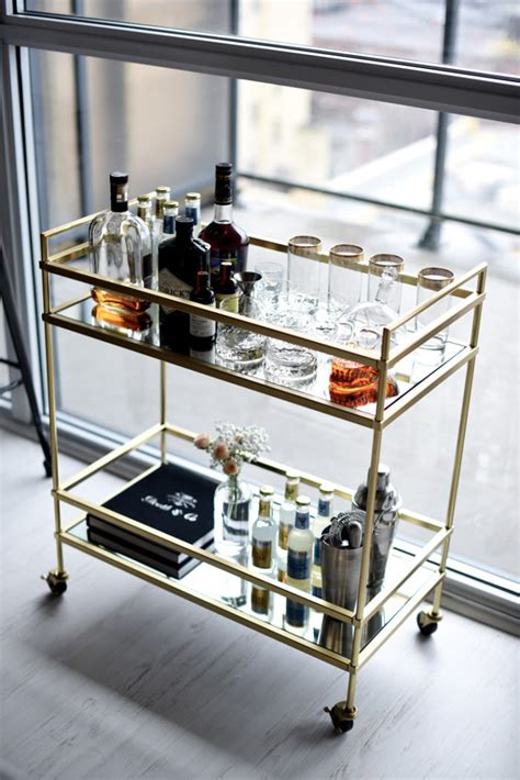 9 Ways to Style A Bar Cart   Home Improvement Thursday   The Builder's Wife