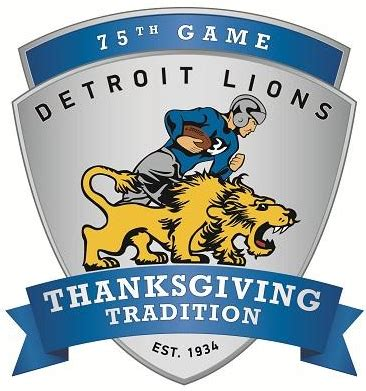 thanksgiving football channels new thanksgiving day logo for detroit lions chris