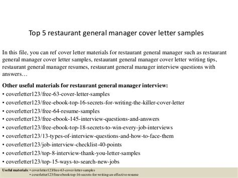 Restaurant General Manager Cover Letter by Restaurant General Manager Cover Letter Sle Kingessays Web Fc2