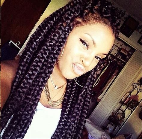 jumbo braid with bang poetic justice braids google search protective hair