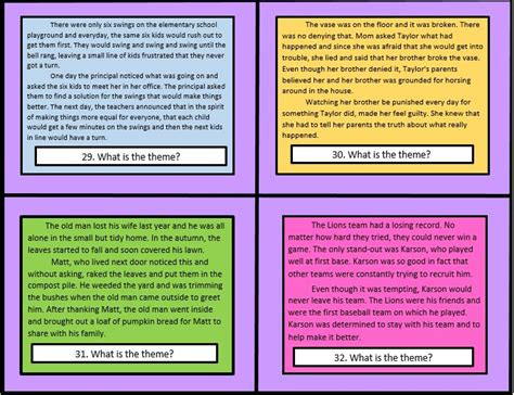 what are some themes in stories themes in literature common core for 4th and 5th grade