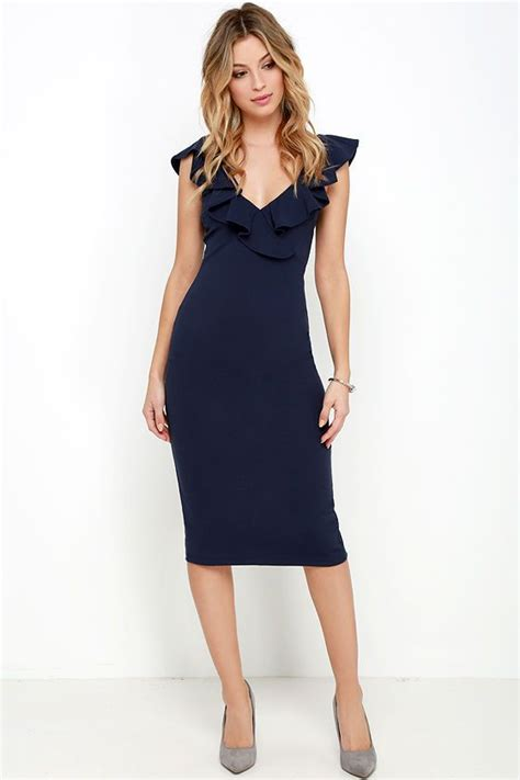 Ll Dress Fara Navy ready to ruffle navy blue midi dress the o jays chic and babies